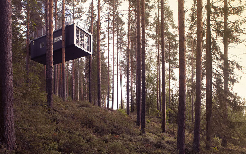 sweden treehotel cabin room 1 The Treehotel in Sweden for Nature Lovers