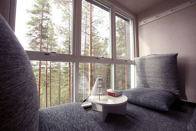sweden treehotel cabin room 2 The Treehotel in Sweden for Nature Lovers