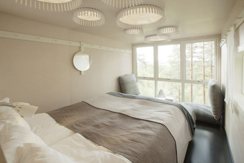 sweden treehotel cabin room 3 The Treehotel in Sweden for Nature Lovers