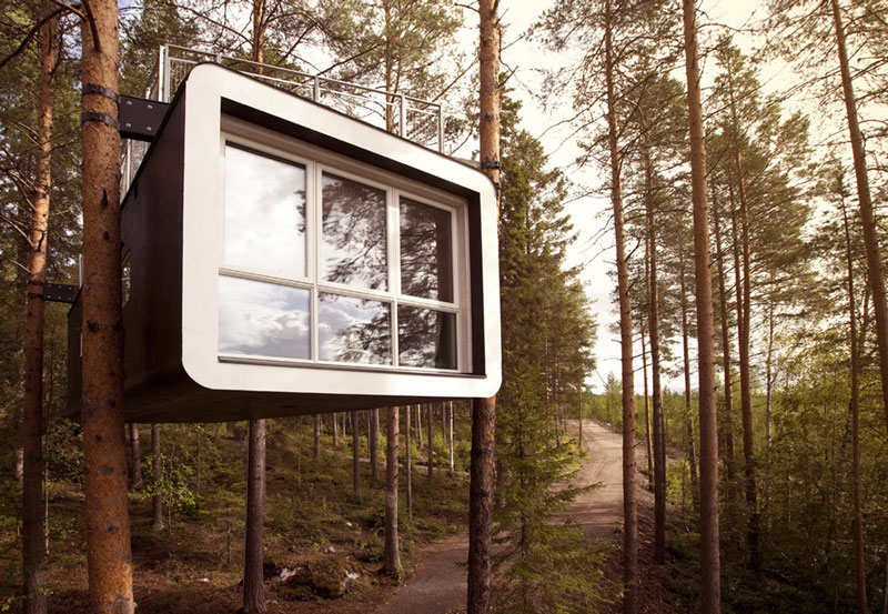 sweden treehotel cabin room 4 The Treehotel in Sweden for Nature Lovers