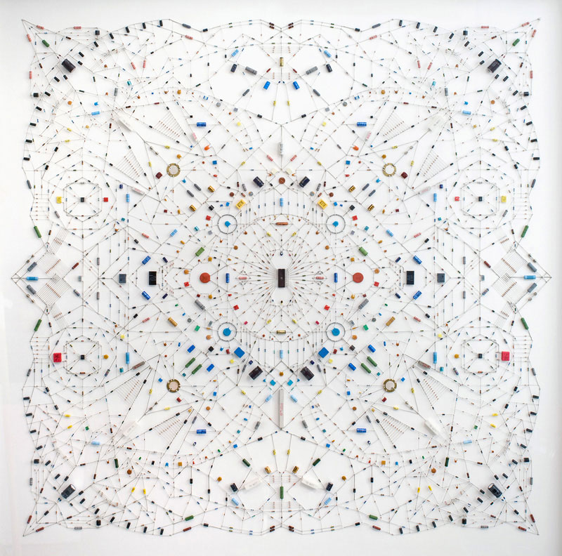 Technological Mandalas Made FromCircuitry