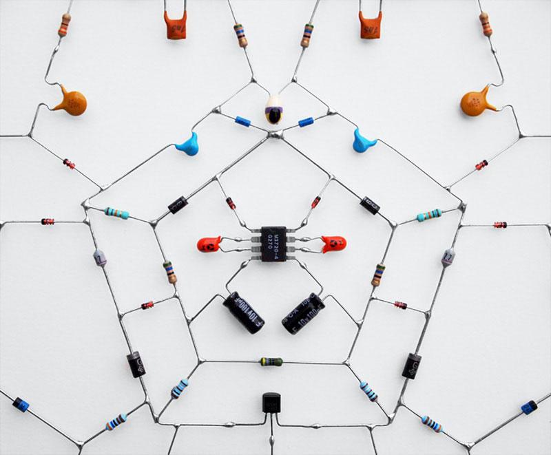 technological mandalas made from circuitry  u00abtwistedsifter