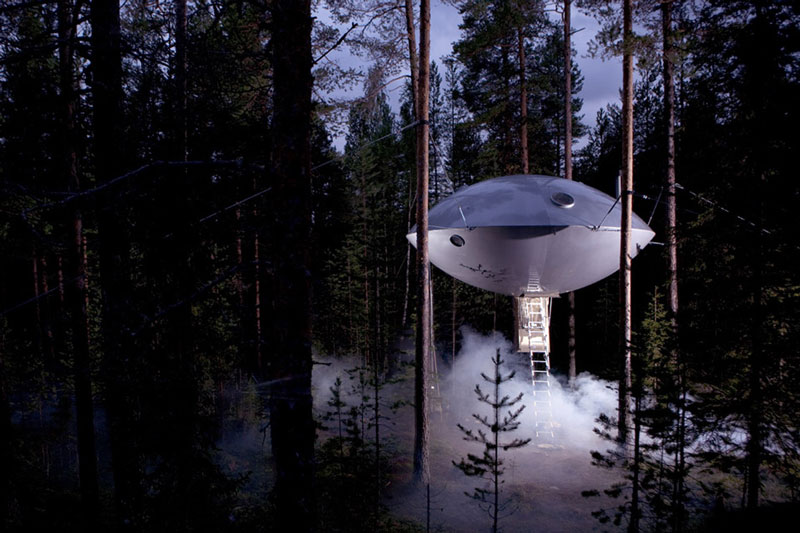 ufo room treehotel sweden 1 The Treehotel in Sweden for Nature Lovers
