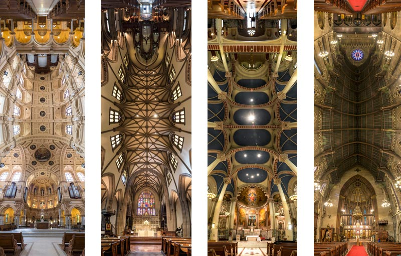 Amazing Vertical Panoramas of Church Ceilings