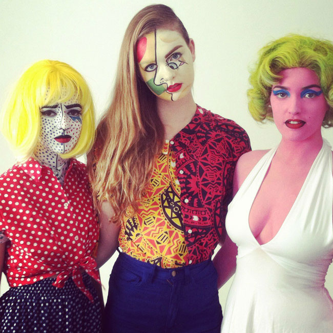 warhol picasso lichtenstein paintings 23 Funny and Creative Halloween Costumes