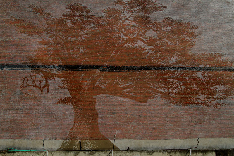 The Water-Activated Oak Tree Mural inHartford