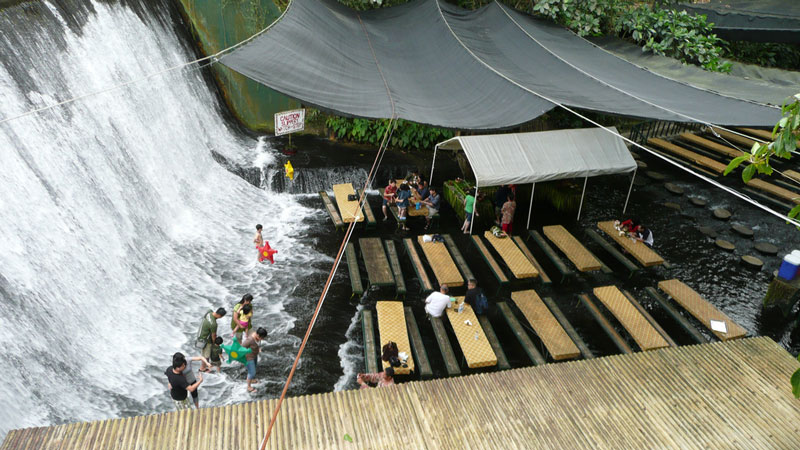 waterfall restaurant villa escudero phillippines 1 A Restaurant Beside a Waterfall