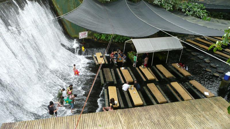 waterfall restaurant villa escudero phillippines 1 A Restaurant Beside a Waterfall