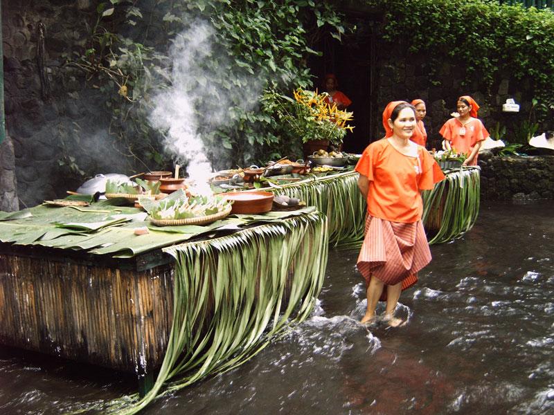 waterfall restaurant villa escudero phillippines 4 A Restaurant Beside a Waterfall