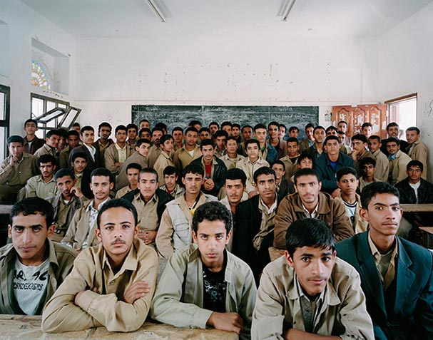 yemen sanaa secondary year 2 english classroom portraits julian germain 18 Classroom Portraits Around the World