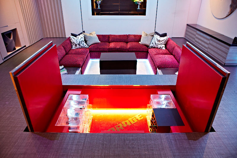 yo home simon woodroffe 9 Elevator Bed Rises to Reveal Sunken Living Room