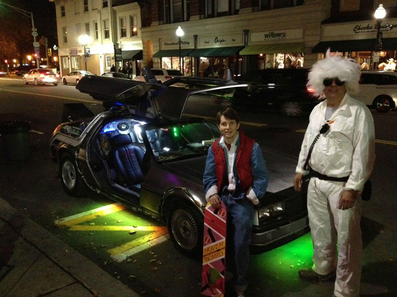 back to the future with delorean halloween costume The 40 Best Halloween Costumes of 2012