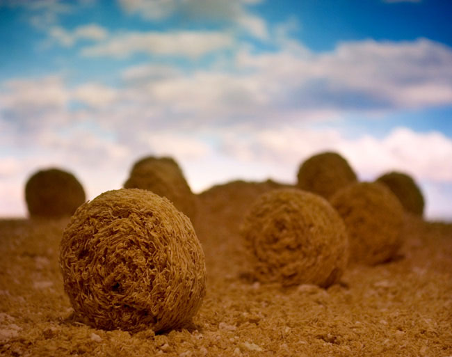 bales of shredded wheat ernie button 2 The Secret World of Cereal Landscapes