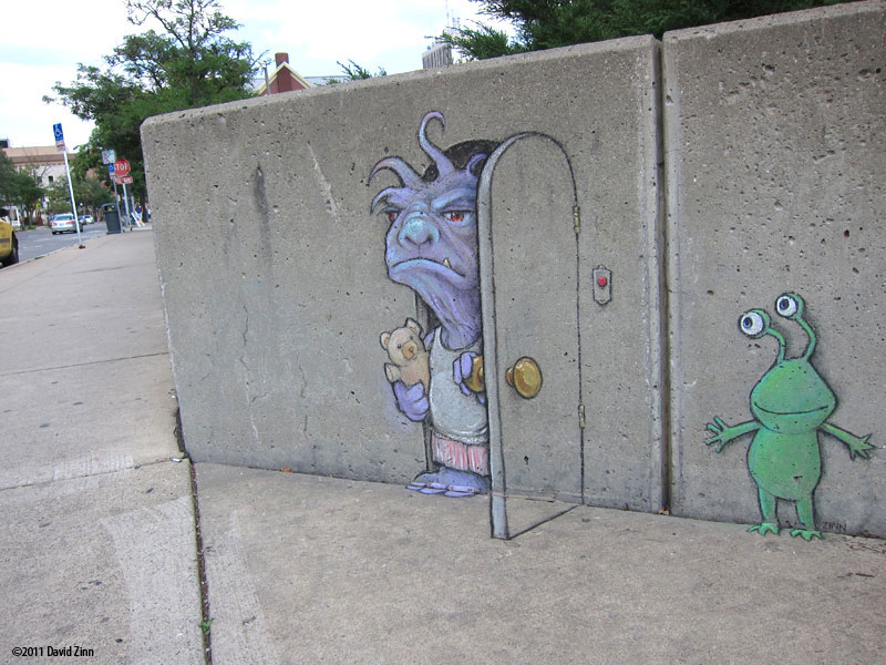 bump in the day by david zinn The Incredible 3D Chalk Art of David Zinn