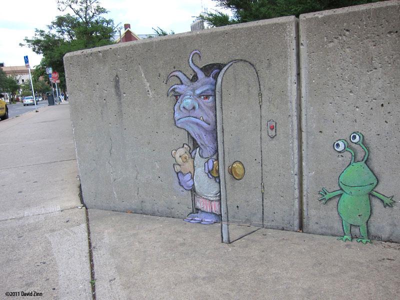 The Incredible D Chalk Art Of David Zinn TwistedSifter - David zinns 3d chalk art adorably creative