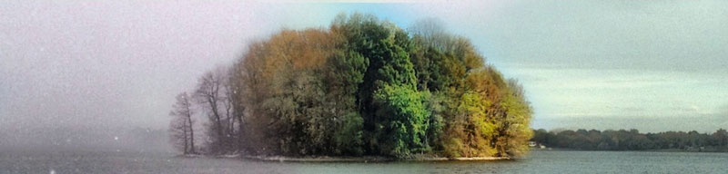 capturing the four seasons in one picture on an island lake springfield illinois 4 Capturing the Four Seasons in a Single Image
