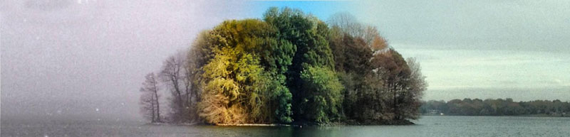 capturing the four seasons in one picture on an island lake springfield illinois 8 Capturing the Four Seasons in a Single Image