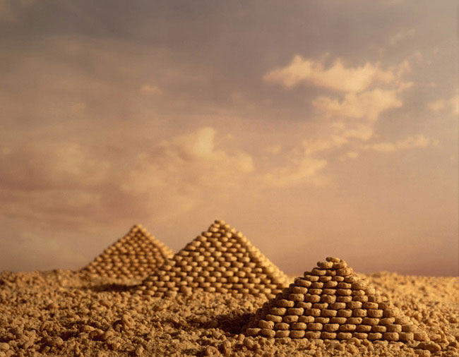 cheerio pyramid ernie button The Secret World of Cereal Landscapes