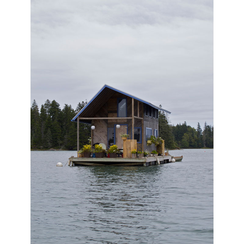 custom floating cabin maine Picture of the Day: A Cabin That Floats