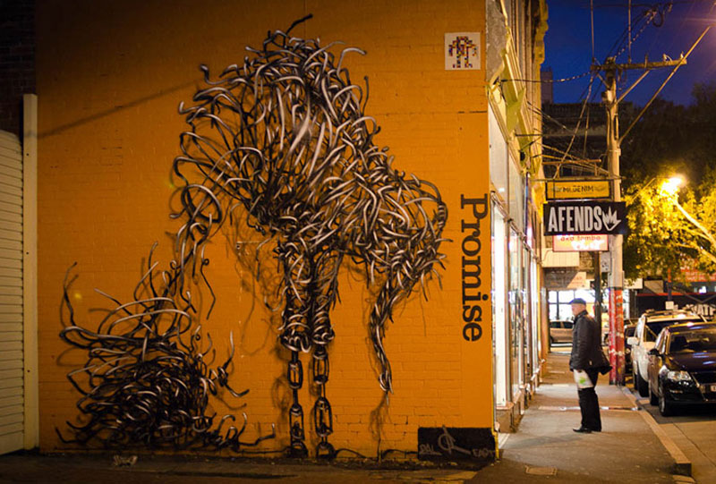 daleast amateur promisemelbourneaustralia2012 Twisted Metal Street Art Murals by DALeast