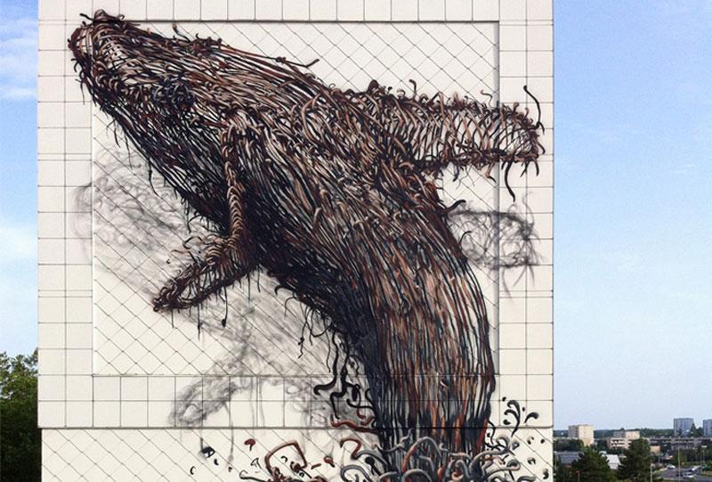 daleast cmelun france2011w Twisted Metal Street Art Murals by DALeast