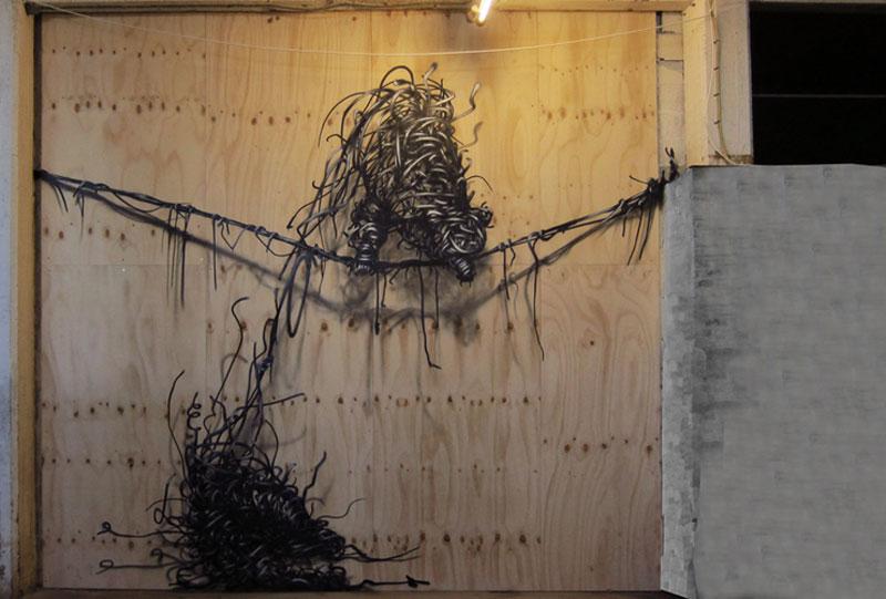 daleast pd aarhusdenmark2012 Twisted Metal Street Art Murals by DALeast