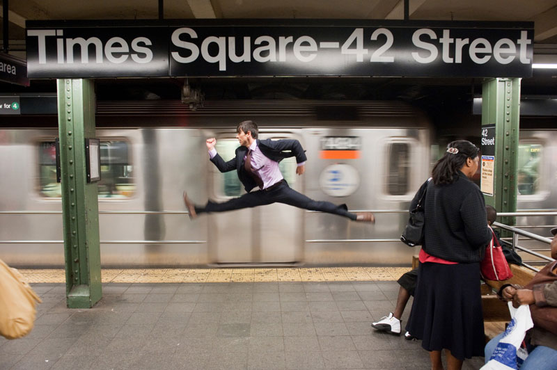 dancers among us in times square jeffrey smith Girlfriend Leads Photographer Around the World
