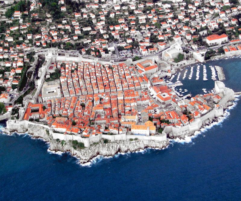 aerial photograph of dubrovnik croatia