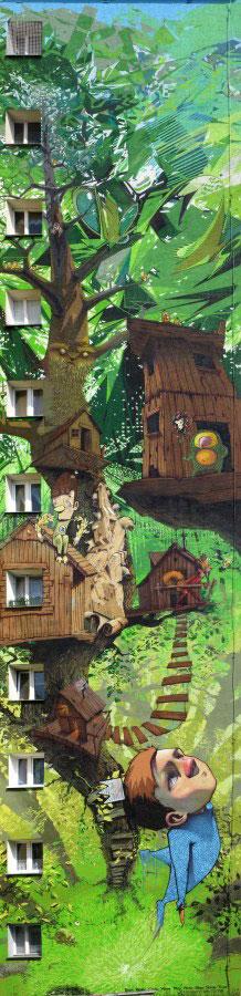etam cru 10 storey street art mural poland 2009 2 Colossal Street Art by Sainer and Bezt