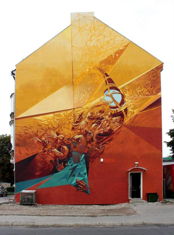 g wilkp etam cru street art poland 2010 Colossal Street Art by Sainer and Bezt