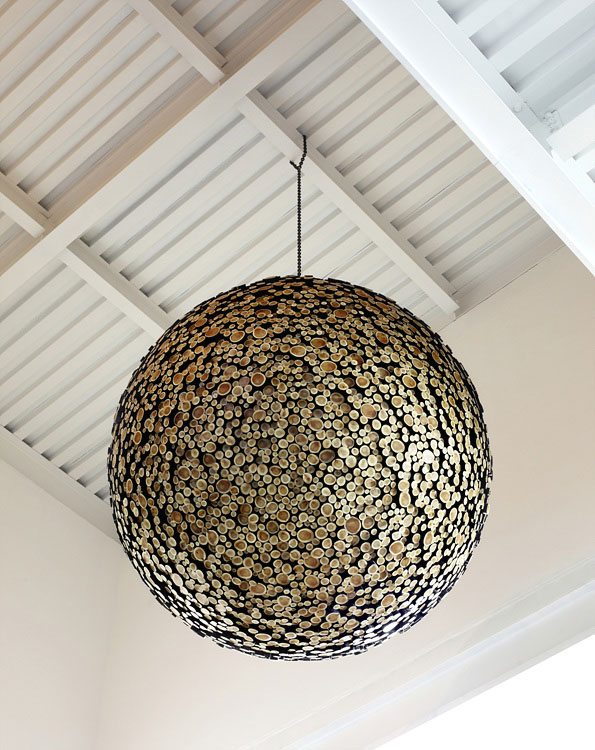 giant wooden spheres lee jae hyo sculptures 11 Colossal Wooden Spheres Made from Interlocking Wood