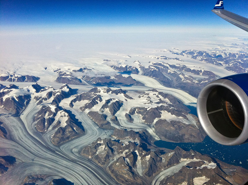 greenland aerial from an airplane window Seeing the World Through an Airplane Window