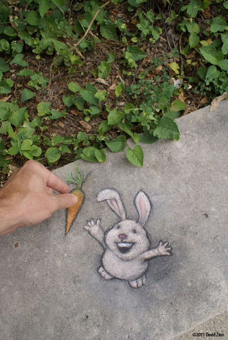 i brought breakfast by david zinn The Incredible 3D Chalk Art of David Zinn