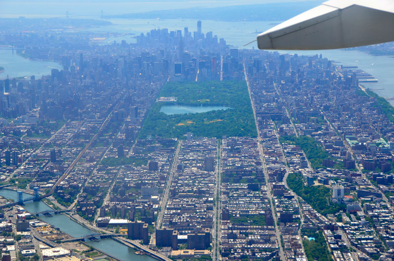 manhattan aerial from airplane window new york city Seeing the World Through an Airplane Window