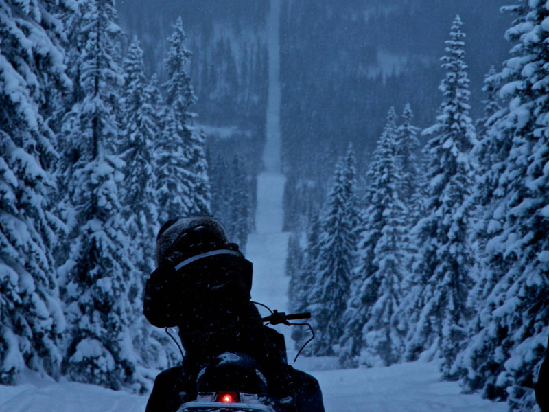 Picture of the Day: Snowmobiling the Norway-SwedenBorder