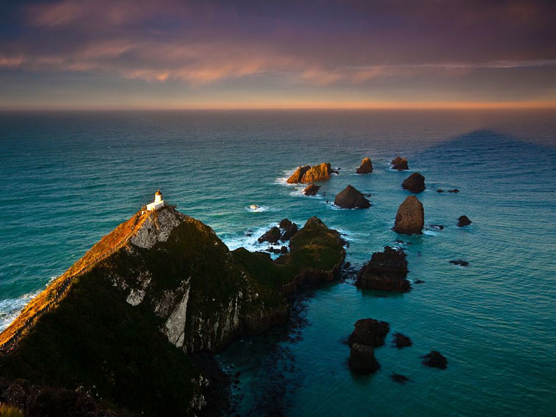 nugget point lighthouse new zealand aerial Picture of the Day: Nugget Point Lighthouse, New Zealand