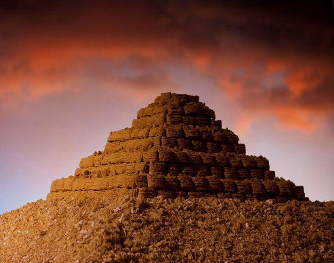 oatmeal squares pyramid ernie button The Secret World of Cereal Landscapes