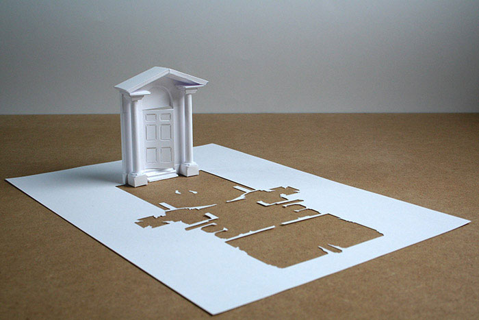 Cutting A Piece Of Paper : Sculptures cut from a single piece of paper «twistedsifter