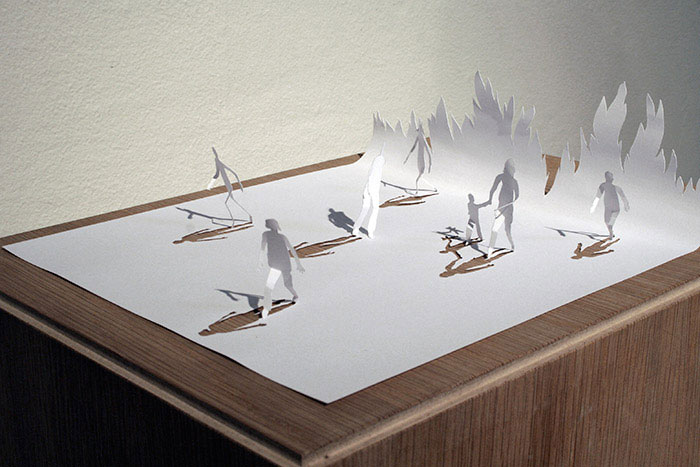 papercraft art from one sheet of paper peter callesen 13 20 Sculptures Cut from a Single Piece of Paper