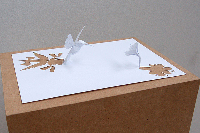 Sculptures cut from a single piece of paper «twistedsifter
