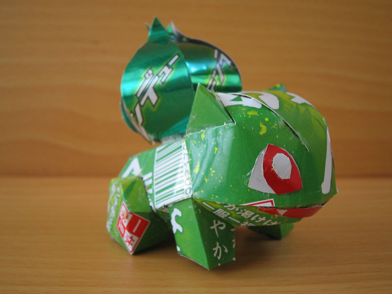 pokemon made from aluminum cans japanese artist makaon (3)
