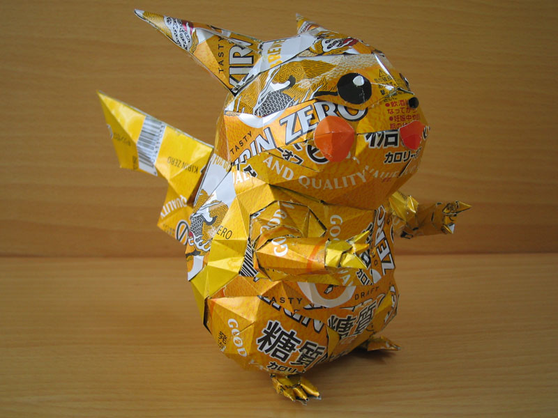 pokemon made from aluminum cans japanese artist makaon (4)