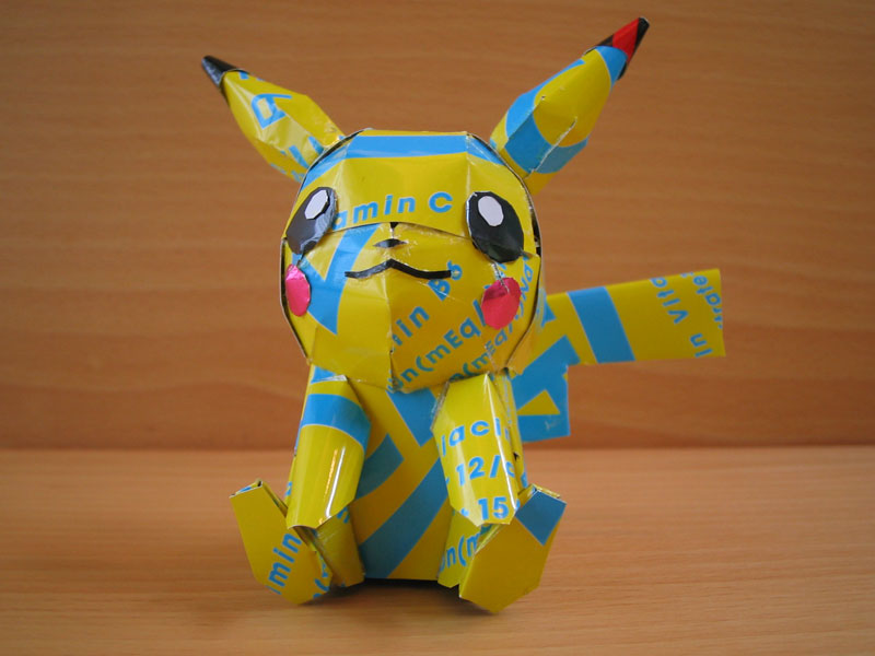 pokemon made from aluminum cans japanese artist makaon (5)