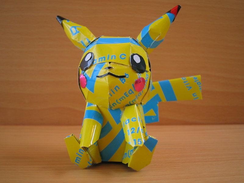 pokemon made from aluminum cans japanese artist makaon (5)