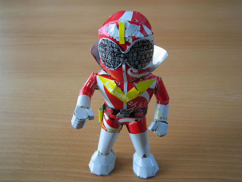 power ranger  made from aluminum cans japanese artist makaon