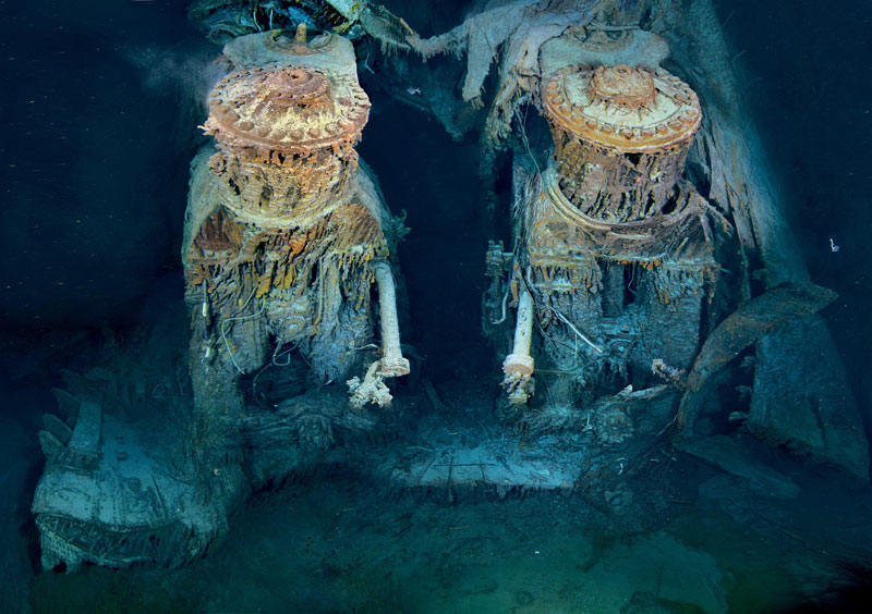 rms titanic engine under water bottom of ocean Picture of the Day: Titanics Engines Underwater