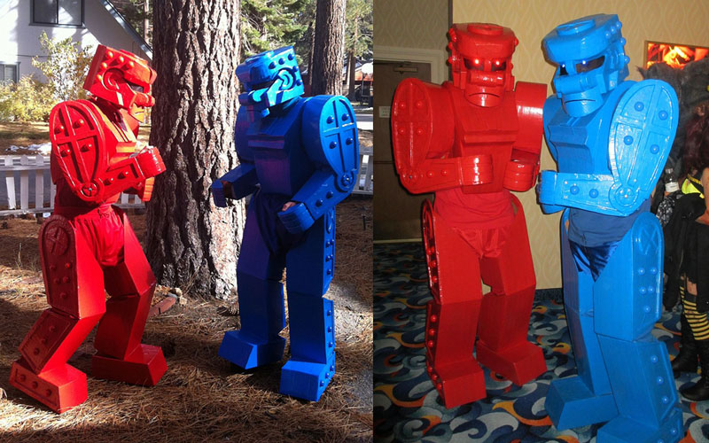 rock em sock em robots The 40 Best Halloween Costumes of 2012