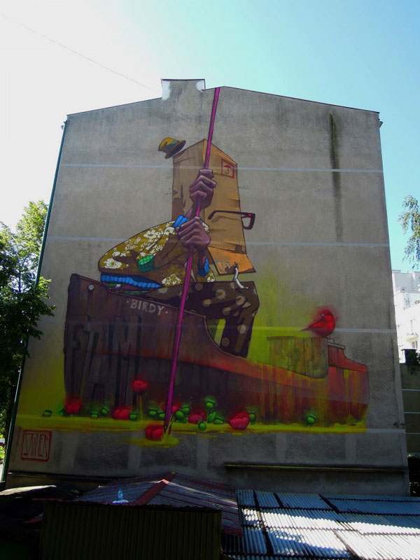 sainer birdyboat gdynia poland etam cru Colossal Street Art by Sainer and Bezt