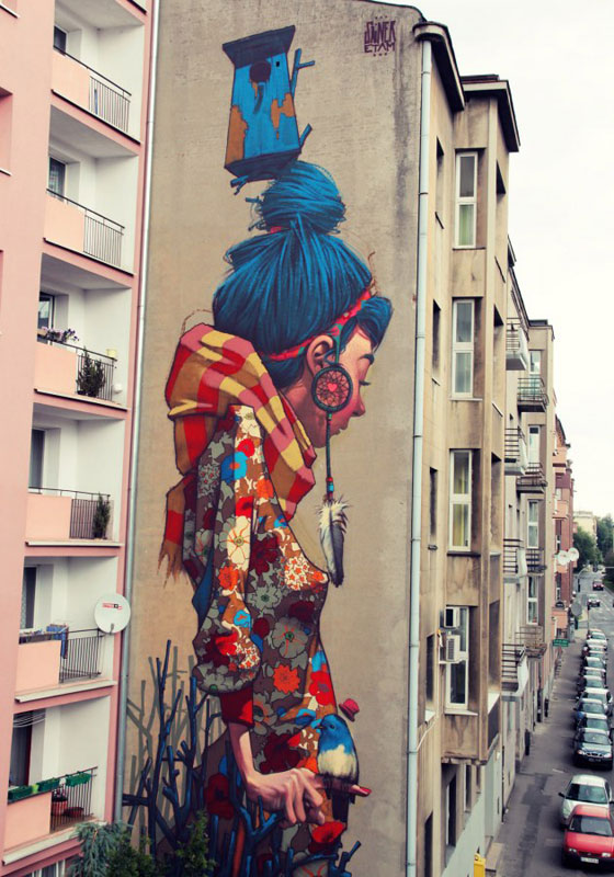 sainer primavera lodz poland 2012 street art etam cru Colossal Street Art by Sainer and Bezt