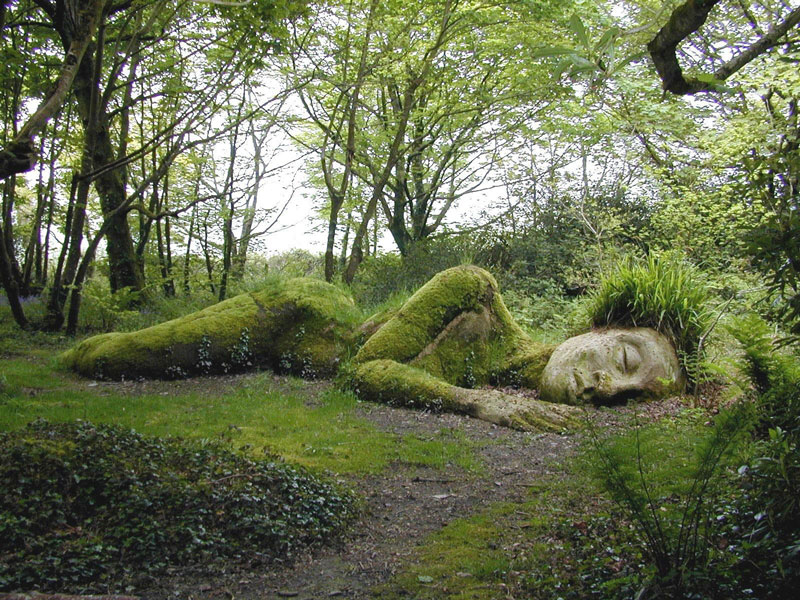 sleeping goddess mud maid woodland walk lost gardens of heligan england1 Picture of the Day: The Sleeping Goddess